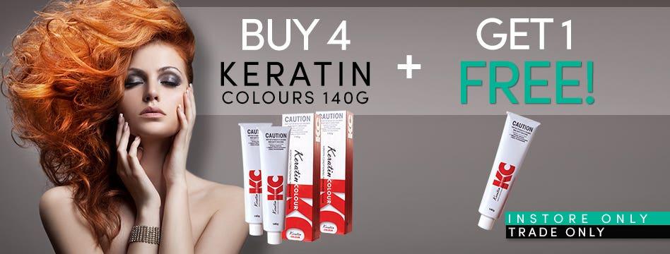 Buy 4 Keratin Colours get 1 Free!